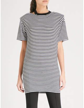 Mo&Co. Striped jersey dress