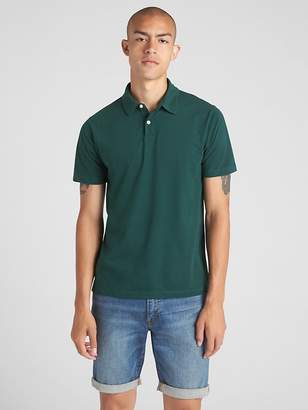 Gap Short Sleeve Polo T-Shirt in Sueded Jersey