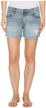 KUT from the Kloth Gidget Fray Shorts in Ladylike Women's Shorts