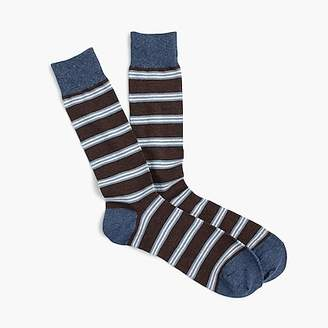 J.Crew Brown striped socks