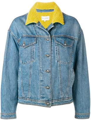 Etro contrast collar denim jacket