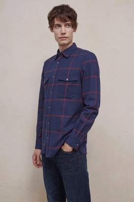 French Connection Windowpane Flannel Shirt