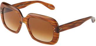Garrett Leight Amoroso 54 Square Acetate Sunglasses
