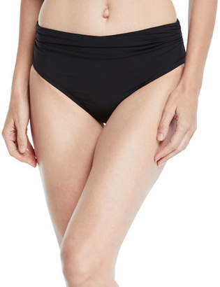 Gottex Profile by Tutti Frutti Shirred High-Waist Bikini Bottoms