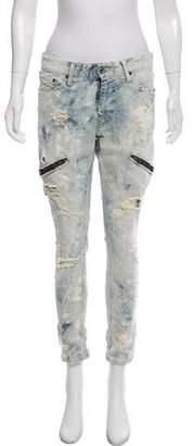 LGB Mid-Rise Distressed Skinny Jeans