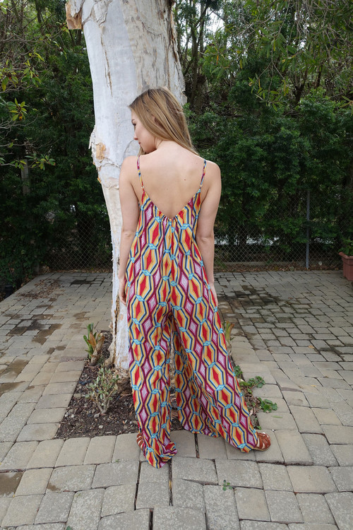 Tysa Playsuit In Serape Caliente