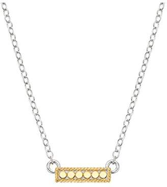 Anna Beck Reversible Gold-Plated Sterling Silver Mini Bar Necklace 16-18""