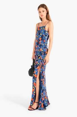 STAUD Parrot Dress | Abstract Peach Navy