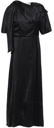 Victoria Beckham Asymmetric Gathered Draped Satin Maxi Dress