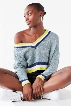 Urban Outfitters Kasey Striped Cropped Sweater