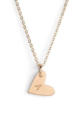 Women's Nashelle 14K-Gold Fill Initial Mini Heart Pendant Necklace $60 thestylecure.com