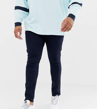 New Look Plus skinny stretch chino in navy