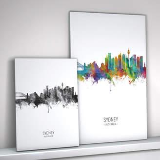 artPause Sydney Skyline Portrait Print And Box Canvas