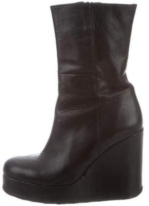 Surface to Air Leather Platform Ankle Boots