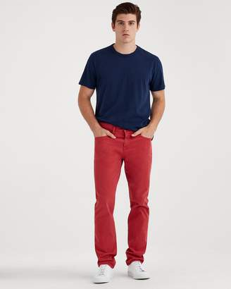 7 For All Mankind Total Twill The Straight with Cean Pocket in Rouge