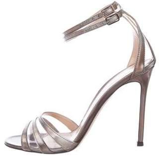 Gianvito Rossi Patent Leather Metallic Sandals