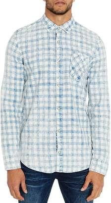 Buffalo David Bitton Sobrik Washed Check Long Sleeve Sport Shirt