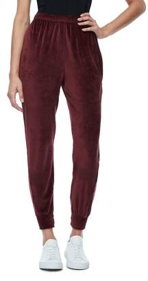 Good American The Twisted Seam Velour Pant