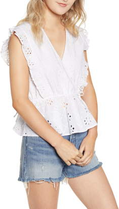 MinkPink All Your Own Broderie Anglaise Top