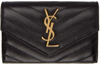 Saint Laurent Black Small Monogramme Envelope Wallet 0274b69de8dec