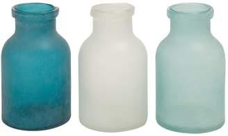 Primrose Valley 3-Piece Frosted Glass Vase Set