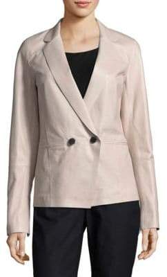 Lafayette 148 New York Brant Leather Blazer