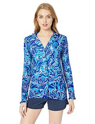 Lilly Pulitzer Women's Ruffle Pj Button-up Top