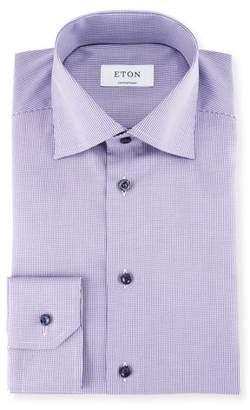 Eton Textured Stripe Cotton Dress Shirt