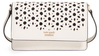 Kate Spade New York Cameron Street - Arielle Perforated Leather Crossbody Bag - White