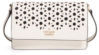 Kate Spade New York Cameron Street - Arielle Perforated Leather Crossbody Bag - White $168 thestylecure.com