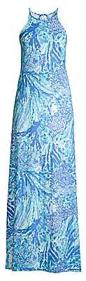 Lilly Pulitzer Women's Margot Abstract Long Halter Dress
