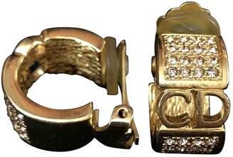 Christian Dior Vintage Gold Metal Earrings