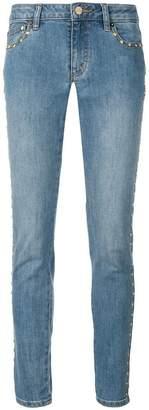 MICHAEL Michael Kors studded faded skinny jeans