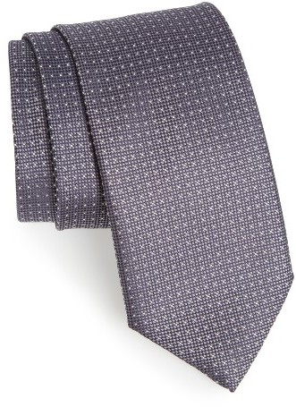 CanaliMen's Canali Microdot Silk Tie