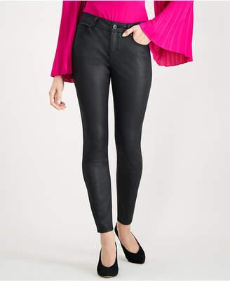 INC International Concepts I.n.c. Coated Skinny Jeans