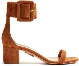 Aquazzura Casablanca 55 block-heel suede sandals