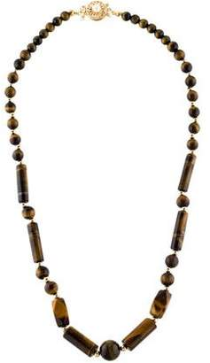 14K Tiger's Eye Bead Strand Necklace