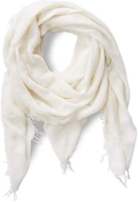Chan Luu Solid Color Cashmere Silk Fringe Scarf