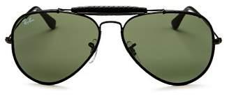 Ray-Ban Unisex Craft Brow Bar Aviator Sunglasses, 58mm