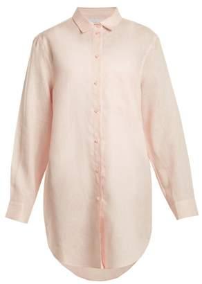 Asceno - Oversized Linen Shirt - Womens - Light Pink