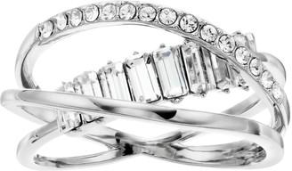Brilliance+ Brilliance Twist Multi Band Ring With Swarovski Crystals