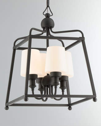 Libby Langdon Sylvan 4-Light Black Forged Outdoor Chandelier