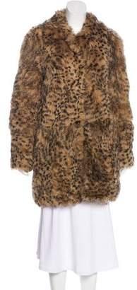 DKNY Short Shearling Coat