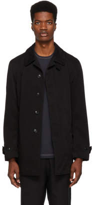 Comme des Garcons Homme Black Laminated Twill Jacket