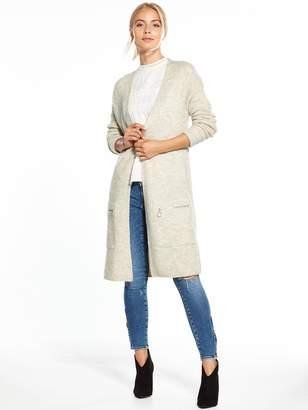 Very Zip Pocket Long Line Cardigan