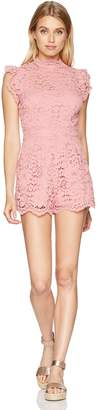 BB Dakota Women's Priscilla Lace Romper