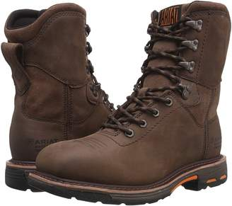 Ariat Workhog 8 Wide Square Toe H2O Men's Work Lace-up Boots