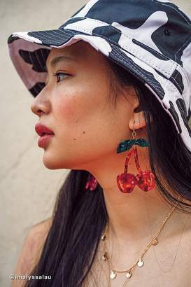 Urban Outfitters Cherry Resin Statement Earring