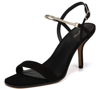 Frankie Suede Sandals with Chain Strap