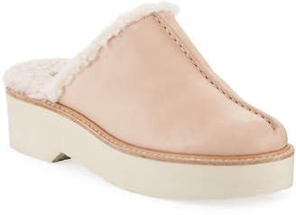 Vince Adler Shearling-Lined Clogs